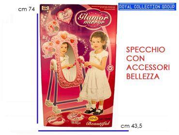 79008 SPECCHIO BIMBA C/SCETTRO MUSICA LUCE cm74x43,5
