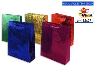9040 BUSTA REGALO LUCIDA COL ASS cm32x27x9 42022900