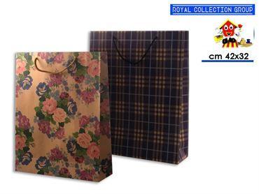 9041 BUSTA REGALO CARTA COL ASS cm42x32x10,5 42022900