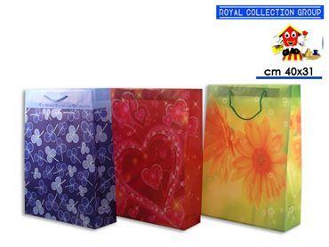 9045 BUSTA REGALO PLAST COL ASS cm40x31x9 42022210
