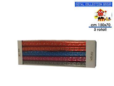9050 CONF 5 ROTOLI REGALO COL ASS cm150x70
