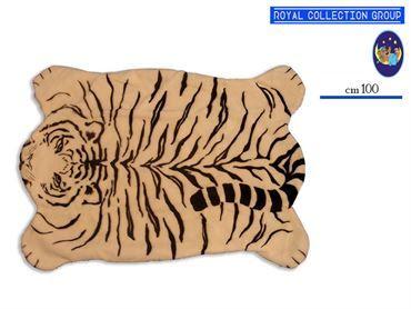 HK03B 41 PELUCHE TAPPETO TIGRE BIANCA cm100x70 95030041