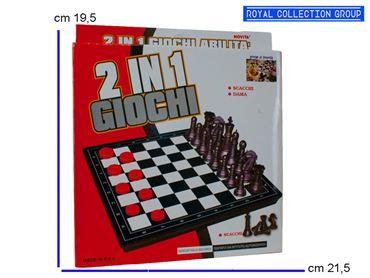 235 GIOCO 2 IN 1 SCACCHI/DAMA cm21,5x19,5 95049080
