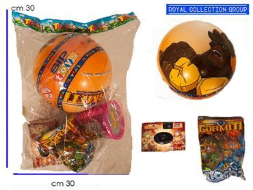 BUSTA 4 GIOCHI GORMITI CARTOONS cm30x30 95030095