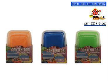PL53 CONTENITORI PLAST RETT 3PZ cm22x16 39241000