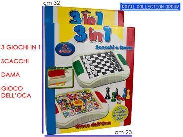 09005 STU120 GIOCO SOCIETA' 3 IN 1 cm32,5x23