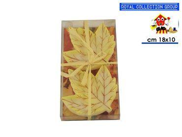 GV 6034 CANDELE 2 FOGLIE cm18,5x10
