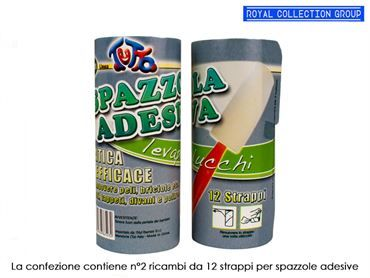 PC02 RICAMBIO SPAZZOLA LEVAPELUCCHI 12 STRAPPI pz2