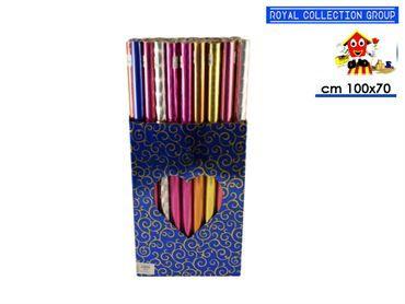ROTOLO CARTA REGALO COL pz50 cm100x70