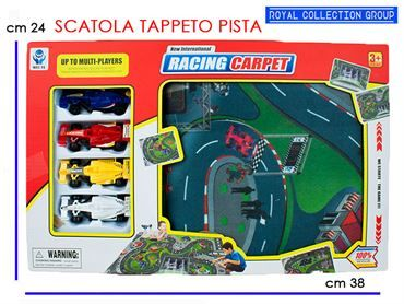 K033670 5599-5 TAPPETO PISTA RACING C/AUTO cm38x24 95030095