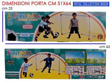 K084338 K050303 PORTA CALCIO C/PALLA CM 63x23