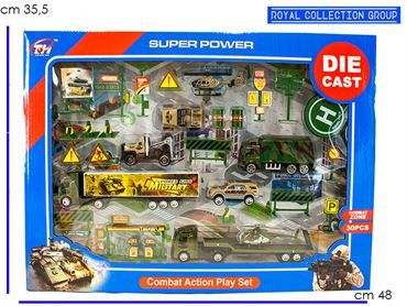 K085521 SET COMBAT ACTION  DIE CAST  CM 48X35.5