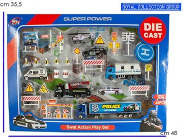 K085520 SET SWAT ACTION  DIE CAST  CM 48X35.5