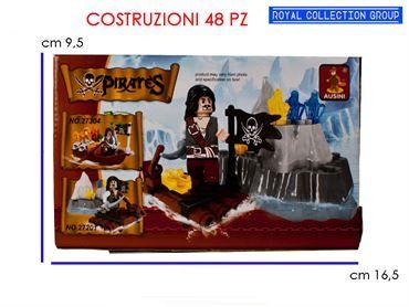 K130493  BUILD COSTRUZIONI PIRATA PZ 48 27201 CM 16.5X9.5