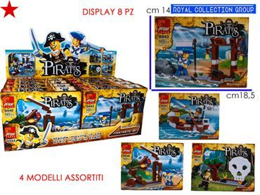 K310622 0444 BUILDING PIRATES (DISPLAY 8PZ) CM 18.5X14