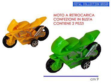 K128396 K037457 SET 2 MOTO RETROCARICA COL IN BUSTA CM 9