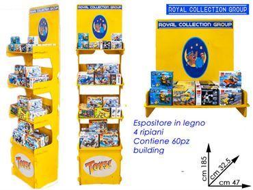 ESPOSITORE ITALO 4 PIANI IN LEGNO C/60 PZ BUILDING ASS