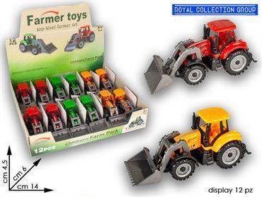 K114403 TRATTORE FARMER CM 13 COL ASS DISPLAY 12 PZ
